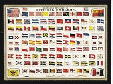 "*Postcard-""New Chart of National Emblems""...Flags- /This Is A Postcard/ (B-113)"