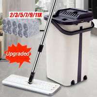 Spray Mop Microfibre Flat Mops Floor Kitchen Bathroom Cleaner Silver Metal