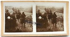 PHOTO STEREO DOUAUMONT prisonniers officiers boches allemands guerre 14 18 s526
