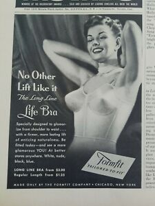1948 womens Life Formfit vintage bra no other lift like it vintage fasion ad