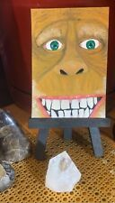 Aceo Original Oil Painting Harry Henderson Sasquatch Bigfoot skunk ape wild man