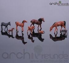 10 Modèle Chevaux, peint à la main, Ferme Modélisme Maquette de train échelle H0