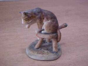 Schmid Lowell Davis MB Cat Tales Figurine Milking Time Free Shipping