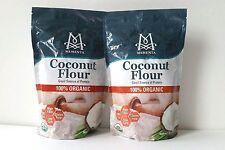 MEMENTA USDA Organic Coconut Flour Gluten Free High Fiber Protein 2 x 1 lb/16oz