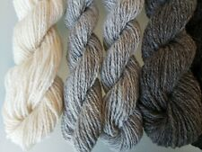 Four Shades of Natural Undyed Wool, Double Spun, Aran Weight 400 grams