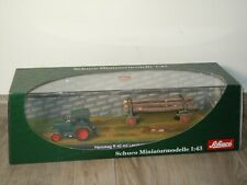 Hanomag Tractor R40 mit Langholzanhanger - Schuco 02783 - 1:43 in Box *39998