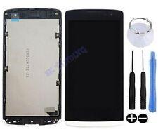 ECRAN LCD + VITRE TACTILE SUR CHASSIS BLOC COMPLET POUR LG LEON H340N BLANC H340