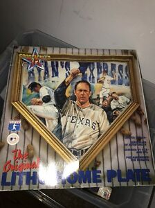NOLAN RYAN AUTO ALL SPORTACULAR ART SIGNED HOME PLATE LITHO In Box