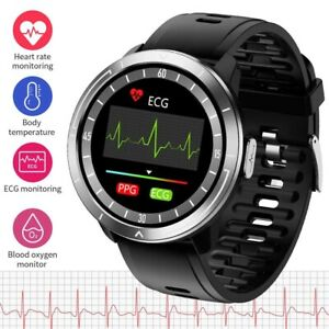 ECG PPG Smart Watch BP Heart Rate Temperature Sports Gym for Samsung iPhone Fit