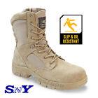 Texas Steer Men's Kamaal 2 Tan Work Boot Slip Oil Resistant Military Style