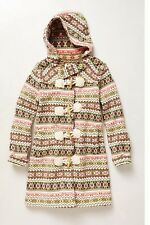 Anthropologie  archival collection fairisle sweater coat Sparrow hoodie knit L