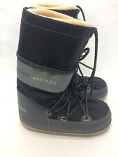 MARC BY MARC JACOBS THE BLACK GRAY LACE UP SNOW BOOTS WINTER SHOES 7 1