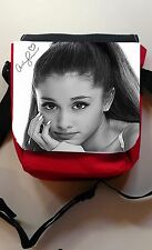 ARIANA GRANDE  SMALL SHLD  CANVAS BAG RED/BLK BLUE/BLK BLK/BLK PERSONALISE FREE