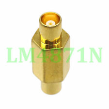 1pce Adapter MCX female jack to MCX female RF connector straight F/F