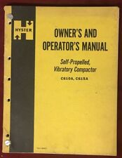 Vtg HYSTER Owner's & Operator's Manual -Self Propelled Vibratory Compactor C610A