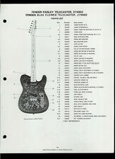 Fender Paisley 274902 Blue Flower 279402 Telecaster Guitar Dealer Sheet Page