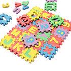 36pc Light Color Toy Foam Floor Alphabet & Number Puzzle Mat For Kids FG UK