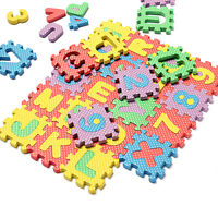 36pc Light Color Toy Foam Floor Alphabet & Number Puzzle Mat For Kids FO