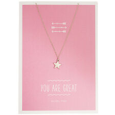 Timi Jewellery star charm silver necklace & YOU ARE GREAT Greeting card, gift