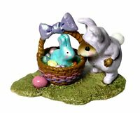"Wee Forest Folk: ""Bunny In A Basket"" Purple Easter, Collectible, M-251"