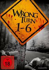WRONG TURN COMPLETE MOVIE 1-6 FILM COLLECTION DVD PART 1 2345 6 UK COMPTBLE R2 x