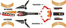 Montesa  4RT  2016 style Works Repsol Complete Decal Set  For 06 - 13 Fenders