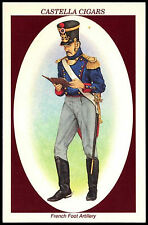 French Foot Artillery #10 Soldiers Of Waterloo Castella Trade Card (C271)