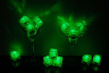 Set of 12 Litecubes Brand 3 Mode GREEN Light up LED Ice Cubes