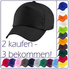 orig. Beechfield Basecap Baseball 5 Panel Cap Schirm-Mütze 21 Farben«