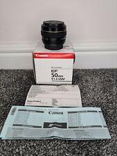 Canon EF 50mm F1.4 USM AF Prime Lens Boxed with Lens Caps Bokeh VGC