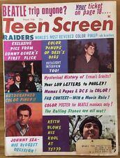 TEEN SCREEN Magazine August 1966 Sonny Cher Beatles Mamas & Papas Rolling Stones