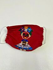 FACEMASK , FRIDA KHALO , RED , EMBROIDERED, MEXICO  , CUBREBOCAS , TWO LAYERS