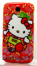 for Samsung galaxy  S4 cute kitten kitty phone  case cover red w/ flower