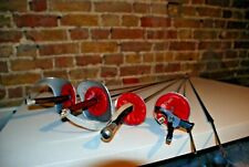 6 Paul Fencing swords, 2 Sabre's, 1 Foil, 1 electric Epee, 2 spare Blades