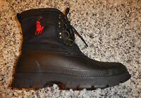 Mens Polo Ralph Lauren Crestwick duck boots new black