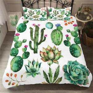 Twin/Full/Queen/King Size Bed Duvet Cover Set Duvet Covers Cactus Bedding