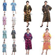 Ladies Mandala Bath Spa Robe 100% Cotton Indian Cloth Dressing Gown Nightwear