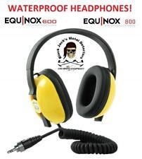Equinox Waterproof Headphones for the Equinox 600 & 800! Auth. MineLab Dlr!