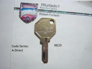 Key Blank for Vintage Alfa Romeo, Fiat Ign. 1967-1970 (see code series) NE23