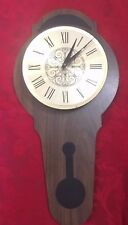 Waltham Wall Clock Quartz Vintage Wood Wooden