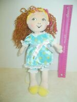 "Fancy Nancy Soft & Cuddly Pajamas Plush Doll Yarn Hair 12"" Jakks Toys 2010 GC"