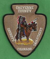 CHEYENNE COUNTY SHERIFF COLORADO POLICE PATCH INDIAN!