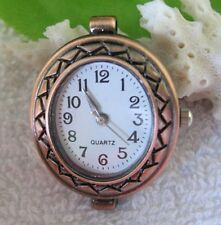 5pcs Copper Quartz OVAL Watch face charm for jewelry making W7314