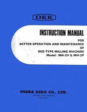 OKK MH-2V & MH2P Milling Machine Manual