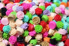 Cabochon Resin Flower 11 Pairs 11 Colours Retro Style Flatback Marguerite Roses