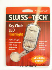 SWISS+TECH Key chain LED Flashlight tool Bottle Opener Multi Tool, ST33340 AUS