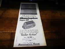 REMINGTON - SUPER 60 - ROLLER - Publicité de presse / Press advert !!! 1957 !!!