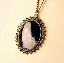 New women's retro feather Pendant sweater Chain Necklace best gift ZS112