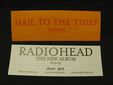 Radiohead Hail ThiefOrange Promo Sticker Bike Board Car