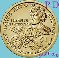2020 P&D NATIVE AMERICAN TWO DOLLARS SET ELIZABETH PERATROVICH